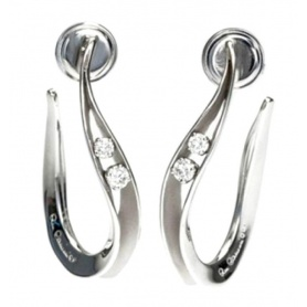 Earrings Annamaria Cammilli line Dune white gold 18kt - GOR1239W