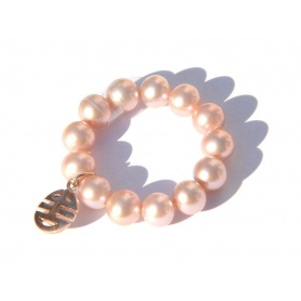 Elastic Ring Mimi purple pearls and charms Well Every, rose gold - A023LR-V