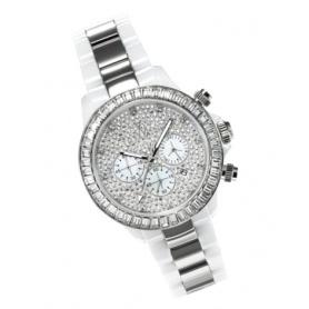 Orologio Toy Watch in ceramica bianca ed acciaio - CHMC05WHS