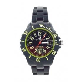 Orologio Toy Watch Monochrome piccolo nero e incici gialli - FL60BKN