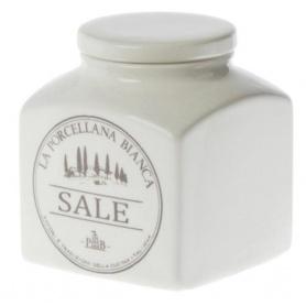 Barattolo Sale La Porcellana Bianca linea Conserva in ceramica