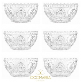 Milan Kisses cups Baroque Rock-& line 6pcs