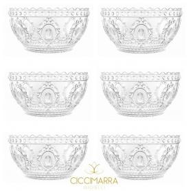 Milan Kisses cups Baroque Rock-& line 6pcs