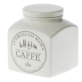 Barattolo Caffè La Porcellana Bianca linea Conserva in ceramica