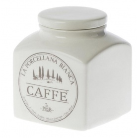 White Porcelain Ceramic Coffee jar Preserves line