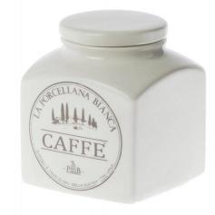 White Porcelain Ceramic Coffee jar Preserves line