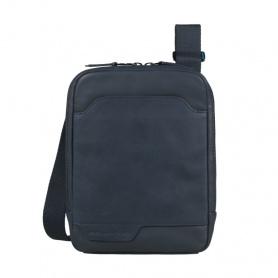 Piquadro organized body bag Ipadmini compartment blue