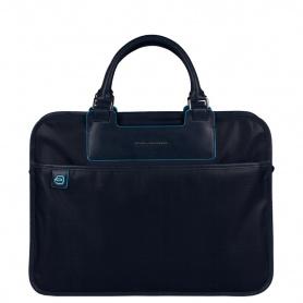 Cartella porta PC e iPadmini liena Aki tessuto blu - CA1903AK/BLU