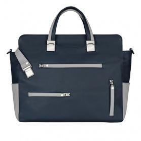 Piquadro Double handle portfolio briefcase blue