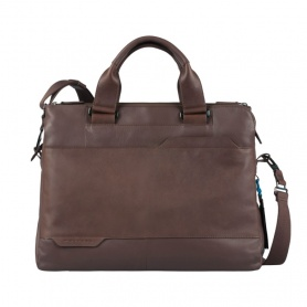 Piquadro Double handle, three compartment brown