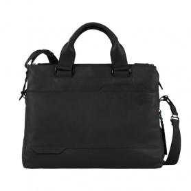 Piquadro Double handle, three compartment briefcase