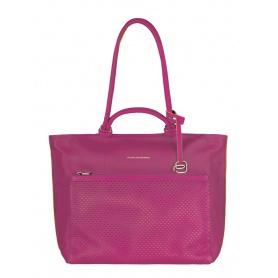 Shopping bag Piquadro orizzontale fucsia - BD3305S75/FU