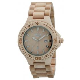 Grün-Uhr Time von Zzero Ahorn natur Holz-ZW001B