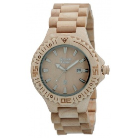 Watch Green Time by Zzero in natural maple wood - ZW001B