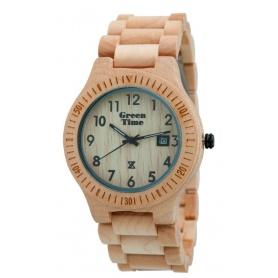 Grün-Uhr Time von Zzero Ahorn natur Holz-ZW002B