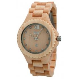 Grün-Uhr Time von Zzero Ahorn natur Holz-ZW003B