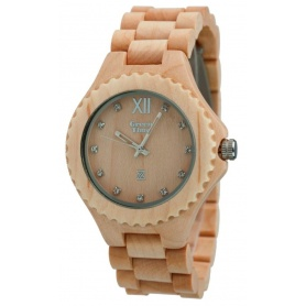 Watch Green Time by Zzero in natural maple wood - ZW003B