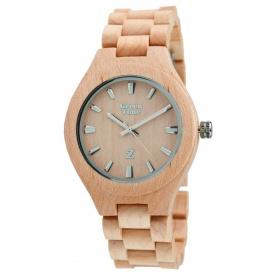 Grün-Uhr Time von Zzero Ahorn natur Holz-ZW005B