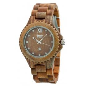Grün-Uhr Time von Zzero natürliche rote Sandale Holz-ZW003A