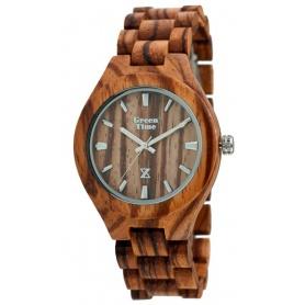 Grün-Uhr Time von Zzero natürliche Zebrano Holz-ZW005C
