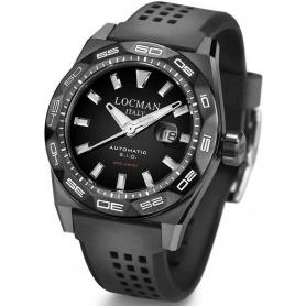 Locman Uhren automatische Stealth Sub300 schwarz PVD