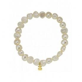 Bracciale Tous perle barocche bianche con orsetto