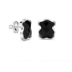 Orecchini Tous Color in argento e agata nera