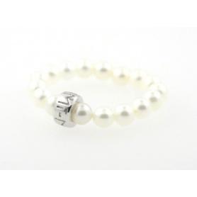 Anello Mimì perle e argento bianco - A023SXRB