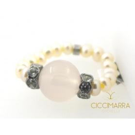 Anello Mimì perle Ametista - A023T222