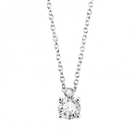 Necklace light point Salvini HRD Antwerp in gold and diamonds ct. 0,30G