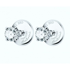 Light Points earrings Salvini HRD Antwerp in gold and diamonds ct. 0,62G