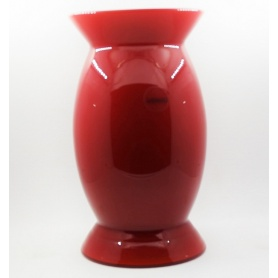 Venini vase Sindone Opal Small size red color, piece out od production - 706.23