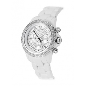 Velvety Chrono watch Toy Watch with Swarovski - VVCMS05WH