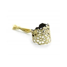 Bracelet Niente Paura Tatu glitter gold rubber