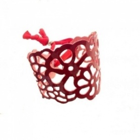 Tatu rubber bracelet Red glossy By Niente Paura
