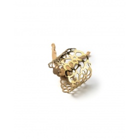 Keine Angst vor Tatù Armband in Gold Spiegel Gummi