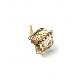 Niente Paura Tatu rubber bracelet Gold Mirror