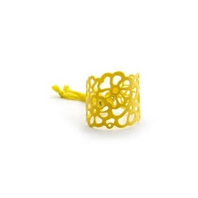 Armadillo Yellow Rubber Bracelet don't worry