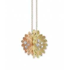 Necklace Annamaria Cammilli Begonia 2 gold and diamonds - GPE1699R