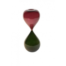 Venini Art Glass Hourglass big red/dark green - 01174