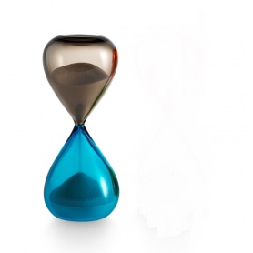 Venini Art Glass Clessidra colore Talpa/acquamarina - 420.06T