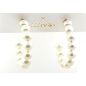 Orecchini Mimì cerchi con perle bianca - 0K435R01