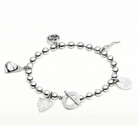 Bracciale Boule Gucci in argento charms - YBA390957001017