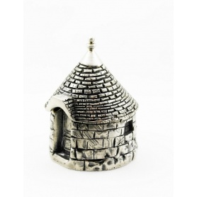 Small box Jewelry Box Trullo Puglia in Sterling silver 925