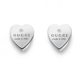 Orecchini lobo Gucci cuore argento tradmark - YBD22399000100U