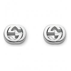 Gucci Double G silver earrings lobe - YBD356289900100U