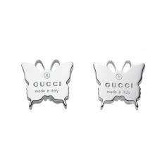 Silver butterfly earrings lobe Gucci trademark - YBD22398500100U