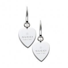Gucci silver heart pendant earrings - YBD22399300100U