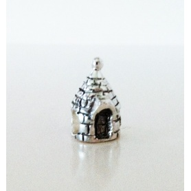 Silver Charms Apulia Trullo for Bracelets