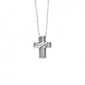 Collana Salvini Golden Cage croce oro bianco con diamante  - 20064600